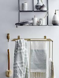 details zu bloomingville handtuchhalter gold metall küche bad regal wand interior deko