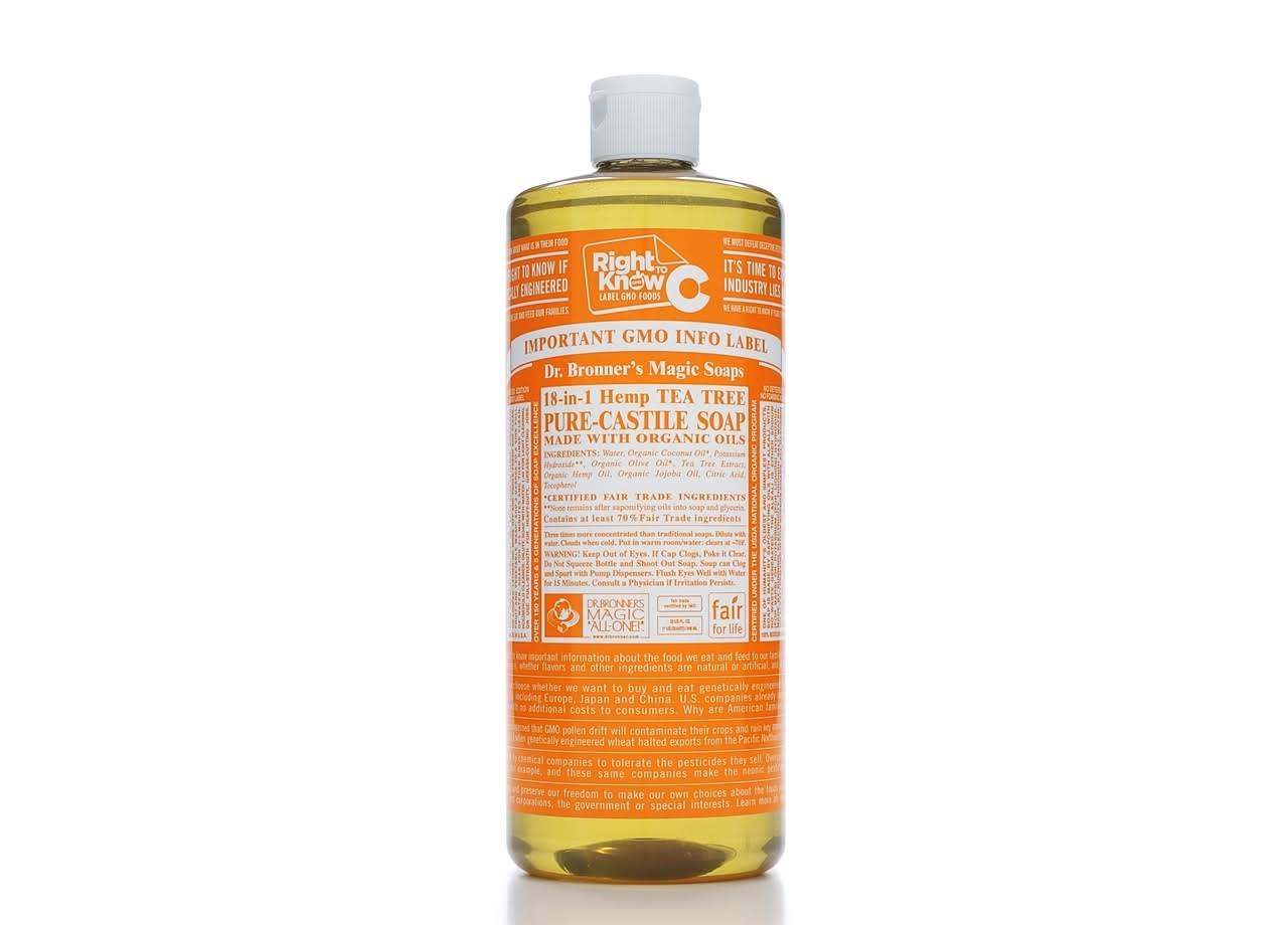 Dr. Bronner's Magic Soaps 18-in-1 Hemp Pure-Castile Soap - Tea Tree