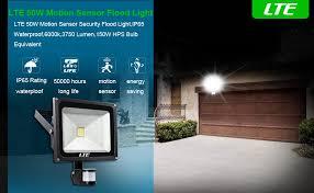 lte bright 50w motion sensor lights outdoor led flood