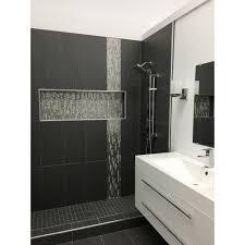 Emser Tile Houston North Spring Tx by Emser Tile U0027s Metro White Black Slate Style White And 1x1 Mosaic