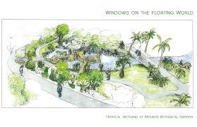 Tropical wetland garden breaks ground at Mounts Botanical