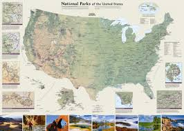 Spirit Halloween Fresno Ca Kings Canyon by National Geographic Maps United States National Parks Wall Map