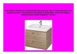new vbchome waschtischunterschrank 50cm waschbecken mit