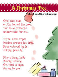 Christmas Poems About Tree