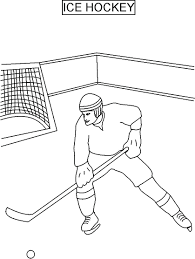 Free Online Hockey Coloring Pages Printable Kids Nhl Field