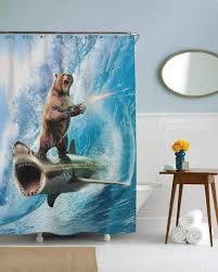 Funny Shower Curtain, Shark Shower Curtain, Bear Shower Curtain ... Bathroom Bathroom Collection Sets Sailor Ideas Blue Beach Nautical Themed Bathrooms Hgtv Pictures 35 Awesome Coastal Style Designs Homespecially Design For Macyclingcom 12 Best How To Decorate Mary Bryan Peyer Inc Blog Archive Hall Simple Cape Cod Ceiling Tile Closet 39 Stylish Deocom 25 And For 2019 Home Beautiful Of House Kids Nautical Remodel Final Results Cottage