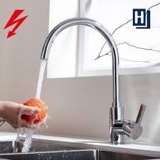 hochlichtbogen spüle armatur küche einhebelmischer 360 drehbar hohe wasserhahn küchenspüle messing