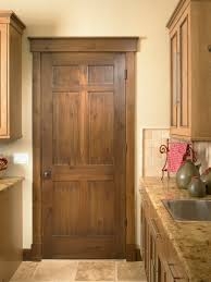 Rustic Craftsman Interior Laundry Door Square Top Rail 6 Panel A1