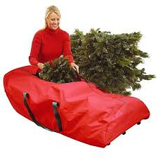 56 Heavy Duty Large Red Rolling Artificial Christmas Tree Storage Bag For 75 Trees