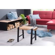 wohnling design sitzhocker gaya 60 x 45 x 28 cm vollholz