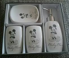 neu disney badezimmer set 4 teilig mickey mouse vintage