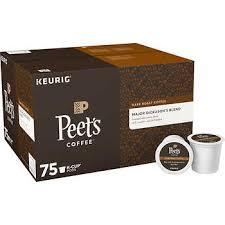 Peets Coffee Major Dickasons Blend Dark Keurig K Cup Pods 75 Ct