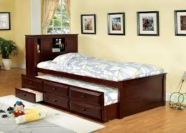 Trundle Bed Walmart by Amazon Com Furniture Of America Cameron Twin Captain Bed With
