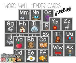 FREE Word Wall Header Cards Follow For Free Too Neat
