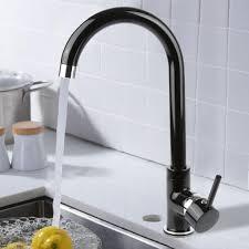 edle granit küchen armatur einhand mischbatterie qualitäts wasserhahn schwarz