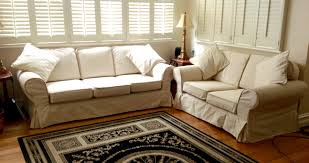 Dual Reclining Sofa Slipcovers by Reclining Couch Covers Stripe Twill Sofa Slipcover Image Is