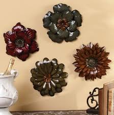 Large Metal Wall Flowers Delectable Art Design Ideas Patch Glossy Decors Flower