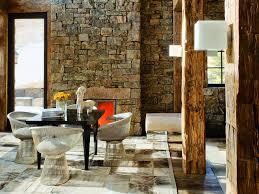 Rustic Modern Design Mediterranean Interior Interiors Wall Coverings