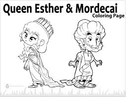 Family Activity Queen Esther Mordecai Heres A Brand New Coloring Page