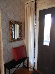 Front Door Side Panel Curtains by Before And In Progress Curtains Are On The Sidelights