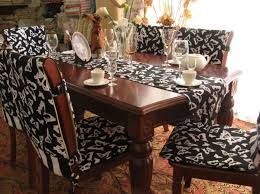 Gorgeous Dining Room Chair Seat Slipcovers And Covers Leather