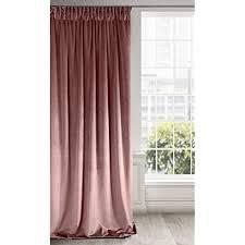 eurofirany vorhang velvet dunkelrosa samt 1 stk weich kräuselband edel hochwertig schlafzimmer wohnzimmer lounge stoff dunkel rosa
