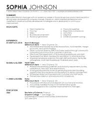 Sample Resume Of Banking Professional Fruityidea