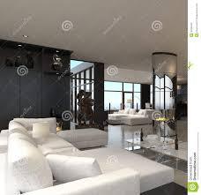 100 Modern Loft Interior Design Living Room Stock Illustration