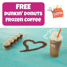 Dunkin Donuts Pumpkin K Cups by Dunkin U0027 Donuts Free Frozen Coffee U0026 Dd Perks Offer Coupon World