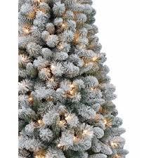 12 Ft Christmas Tree Hobby Lobby by Artificial Christmas Tree Pre Lit 6 5 U0027 Crystal Pine Clear Lights