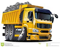Vector Cartoon Dump Truck Stock Vector. Illustration Of Loading ...