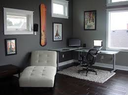 interior design modern study room design idea with corner desk in