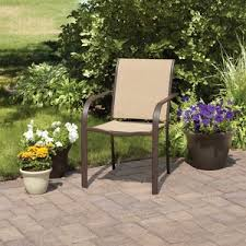 Stackable Outdoor Sling Chairs by Mainstays Stacking Sling Chair Dune 11 00 Each At Wvc Ut Walmart