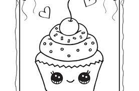 Cupcake Coloring Page Printable