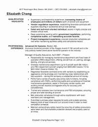 Resume Objective Examples Quality Control