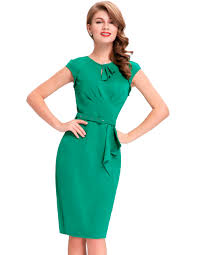 free shipping buy best women business work sheath dress vestidos
