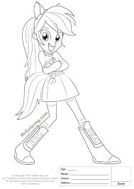 My Little Pony Coloring Pages Rainbow Dash Equestria Girls 3 To Extraordinary Fluttershy