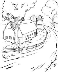 Farm Scenes Coloring Page