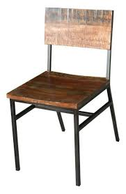 Industrial Iron And Wood Dining Chair