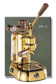 Espresso Lever Machine La Pavoni Professional Gold Plated And