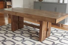 WEST ELM INSPIRED SOLID WOOD DINING TABLE FOR 150 Studio 36 Interiors