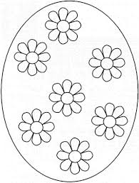 Simple Flower Easter Eggs Coloring Pages