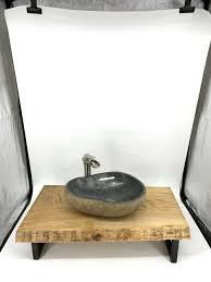 waschtisch teak 74cm bad badezimmer badmöbel modern