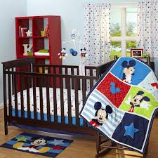mickey mouse crib bedding set for baby elastistor decoration