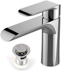 xcel home mera moderne chrom waschbecken armatur mit abfluss runde mischbatterie mono bloc luxus badezimmer waschbecken einhebel wasserhahn