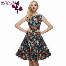 acevog brand women 2016 summer dress sleeveless tunic casual