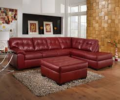 Manhattan Sectional Sofa Big Lots by Amazon Com Simmons Cardinal Burgundy Leather Sectional Kitchen