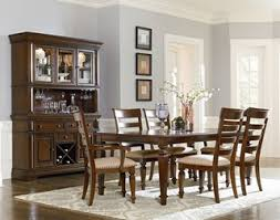 Ortanique Dining Room Chairs by Charleston Traditional Tobacco Brown Hardwood Trestle Dining Table