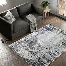 kurzflor teppich wohnzimmer grau modern läufer flur küche