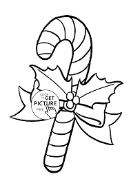 Candy Cane Coloring Pages For Kids Printable Free And